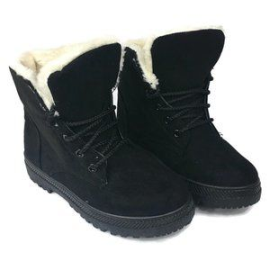 Other - NWOT SQL Youth Black Suede Fleece Lined Boots.